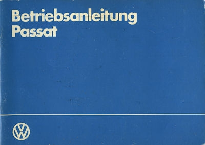 VW Passat Bedienungsanleitung 1984