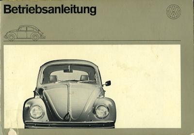 VW Käfer 1200 1300 Bedienungsanleitung 8.1971