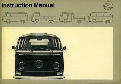 VW T 2 Bedienungsanleitung 8.1971 e