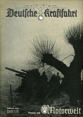 Deutsche Kraftfahrt 1940 Februar
