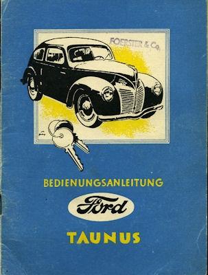 Ford Taunus Bedienungsanleitung 1949