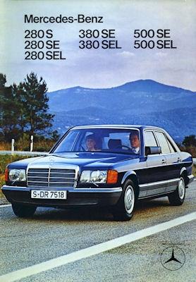 Mercedes-Benz 280S - 500 SEL Prospekt 1980