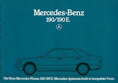 Mercedes-Benz 190 190E Prospekt 1983