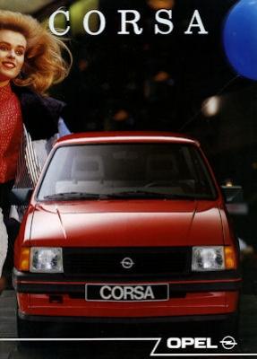 Opel Corsa Prospekt 1989 nl