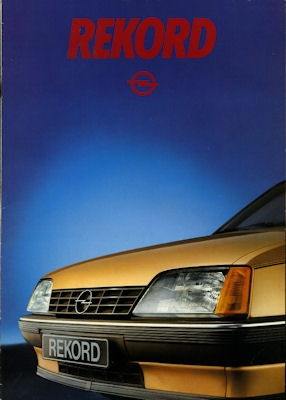 Opel Rekord E Prospekt 1983 nl