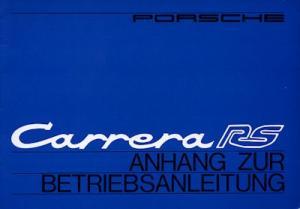 Porsche Carrera RS Bedienungsanleitung 1973 Reprint