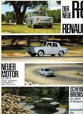 Renault 8 Prospekt 1962