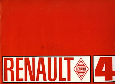 Renault 4 Prospekt ca. 1968