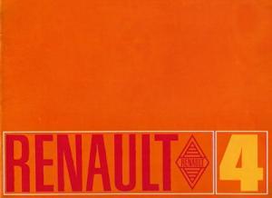Renault 4 Prospekt ca. 1969