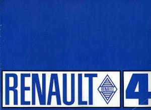 Renault 4 Prospekt ca. 1970
