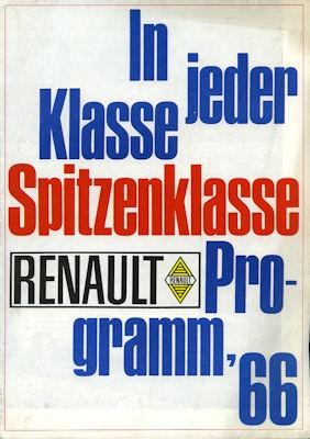 Renault Programm 1966