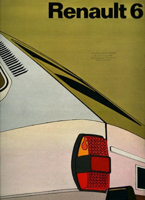 Renault 6 Prospekt ca. 1972