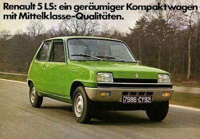 Renault 5 LS Prospekt ca. 1978