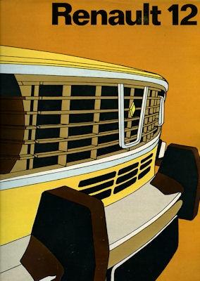 Renault 12 Prospekt ca. 1972
