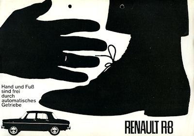 Renault 8 Prospekt ca. 1963