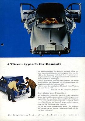Renault Dauphine Prospekt 1960er Jahre