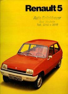 Renault 5 Prospekt ca. 1972