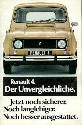 Renault 4 Prospekt ca. 1977