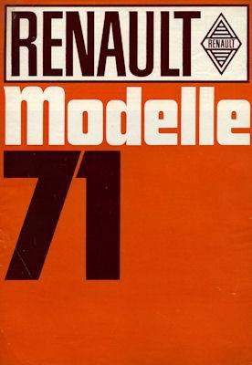 Renault Programm 1971