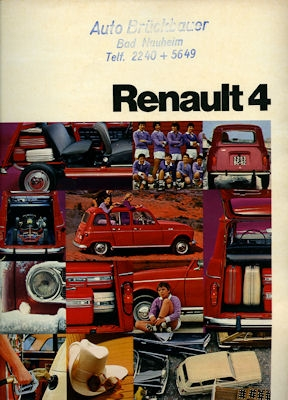Renault 4 Prospekt ca. 1973