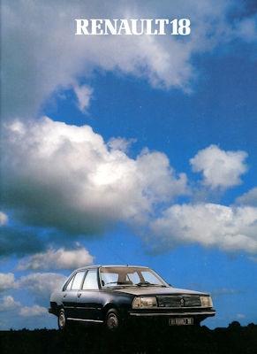 Renault 18 Prospekt ca. 1981
