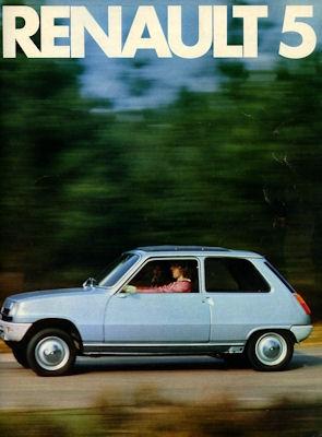 Renault 5 Prospekt ca. 1975