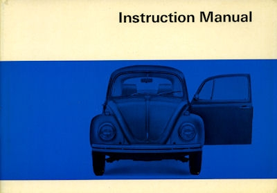 VW Käfer Bedienungsanleitung 8.1969 e
