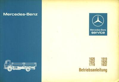 Mercedes-Benz Lkw Bedienungsanleitung 1979