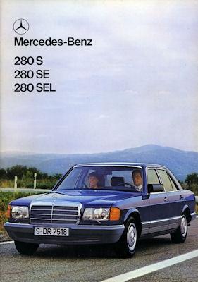 Mercedes-Benz 280 S SE SEL Prospekt 1980 e