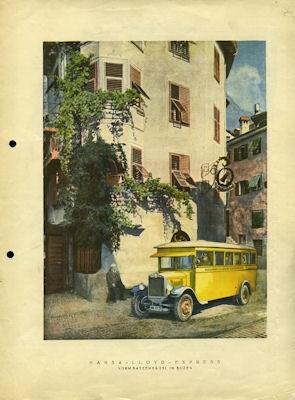 Hansa-Lloyd Express Bus Prospekt 1928