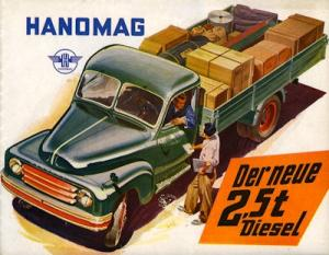 Hanomag 2,5 t Diesel Prospekt 1950er Jahre