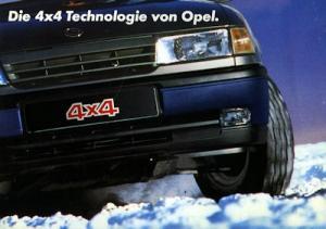 Opel Calibra / Vectra 4x4 Prospekt 1991