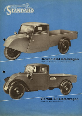 Standard Lkw Programm 1930er Jahre