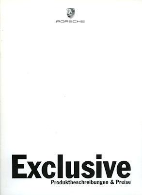 Porsche Exclusive Preisliste 8.1996
