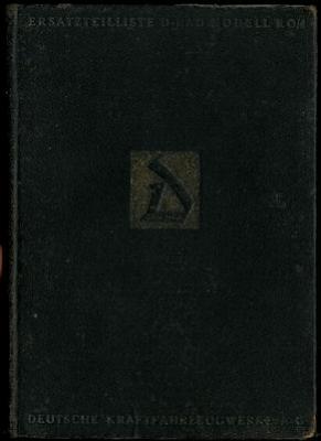 D-Rad R 0/4 Ersatzteilliste 1920er Jahre