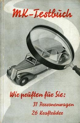MK-Testbuch 1938 1939 1 + 2. Band