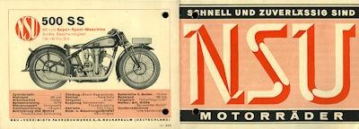 NSU Motorrad Programm 1931