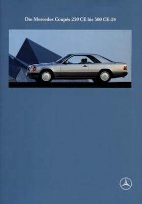 Mercedes-Benz Coupés 230 CE-300 CE-24 Prospekt 5.1990