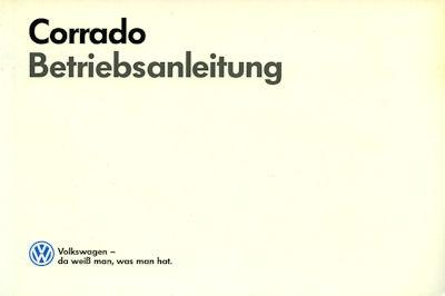 VW Corrado Bedienungsanleitung 1989