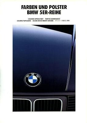 BMW 5er Farben und Polster Prospekt 1992