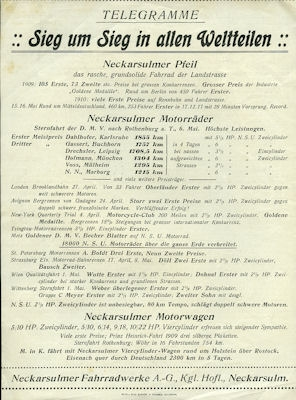 NSU Prospekt 5.1910