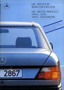 Mercedes-Benz 200D- 300D 4Matic Prospekt 1988