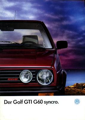 VW Golf 2 GTI G 60 Syncro Prospekt 1989