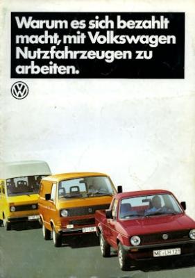 VW Nutzfahrzeuge Programm 1986