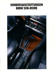 BMW 5er Sonderausstattung Prospekt 1992