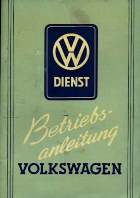 VW Käfer Bedienungsanleitung 1.1952