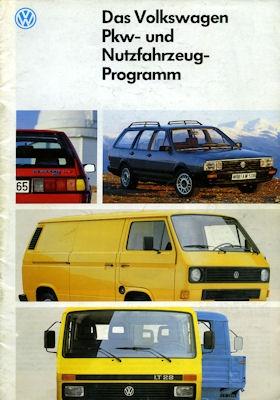 VW Pkw + Nutzfahrzeuge Programm 1987