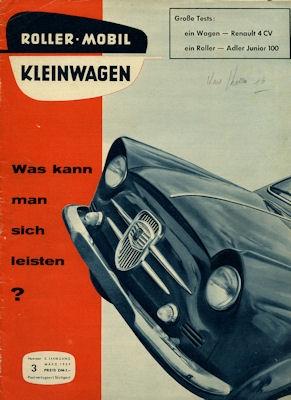 Rollerei und Mobil / Roller Mobil Kleinwagen 1959 Heft 3
