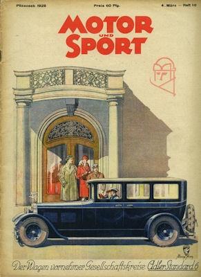 Motor & Sport 1928 Heft 10