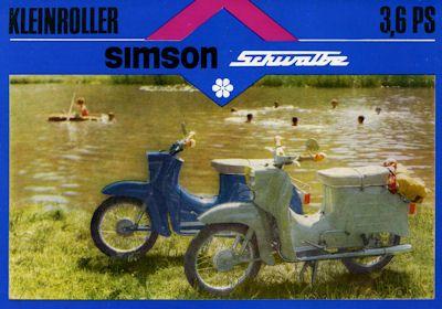 Simson Kleinroller Typ KR 51/1 Schwalbe Prospekt 1970